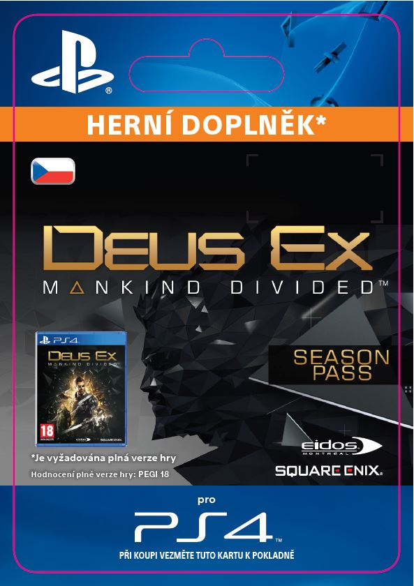 ESD CZ PS4 - Deus Ex: Mankind Divided - Season Pass