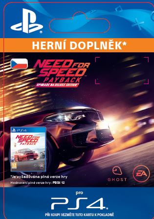 ESD CZ PS4 - Need for Speed™ Payback - Deluxe Edition Upgrade (Av.7.11.2017)