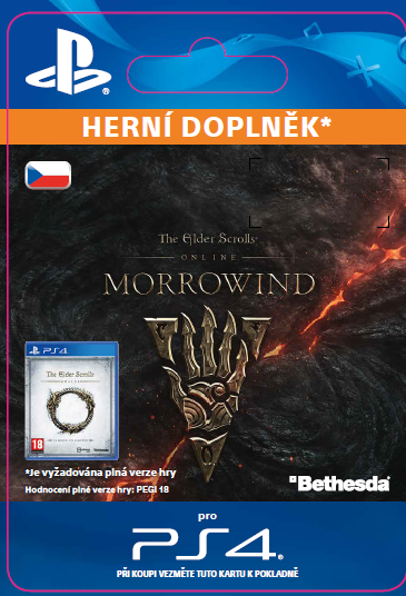 ESD CZ PS4 - The Elder Scrolls Online: Morrowind Upgrade