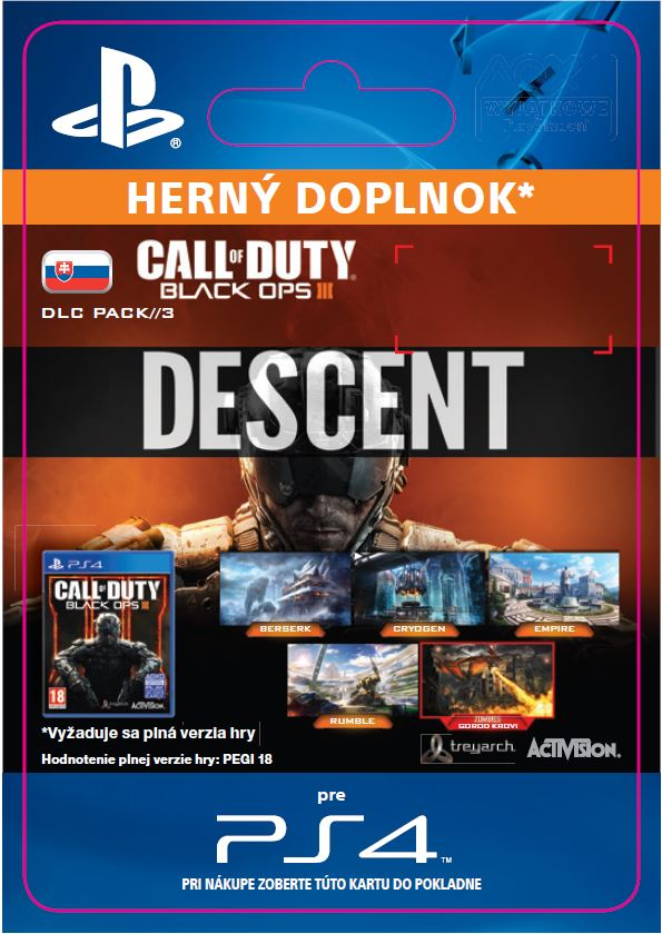 ESD SK PS4 -Call of Duty®: Black Ops III - Descent DLC