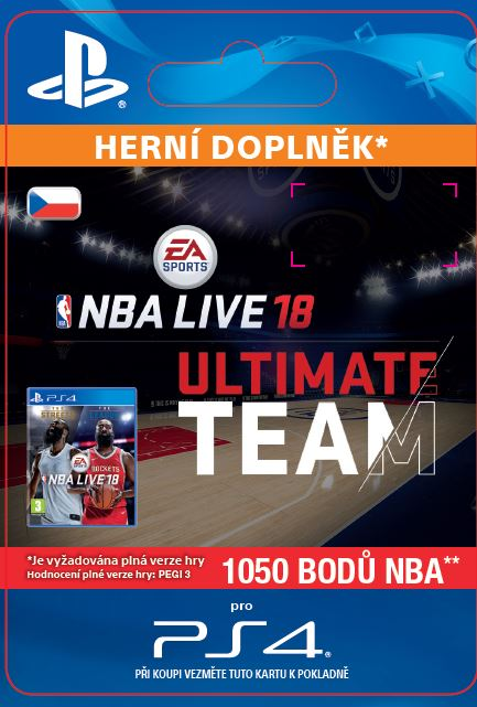 ESD CZ PS4 - EA SPORTS™ NBA LIVE 18 ULTIMATE TEAM™ - 1050 NBA POINTS