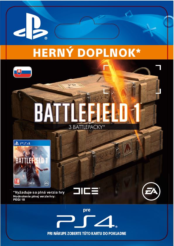 ESD SK PS4 - Battlefield 1 Battlepacks x 3