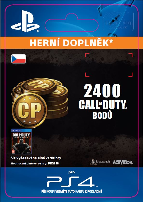 ESD CZ PS4 - 2,000 (+400 Bonus) Call of Duty Point