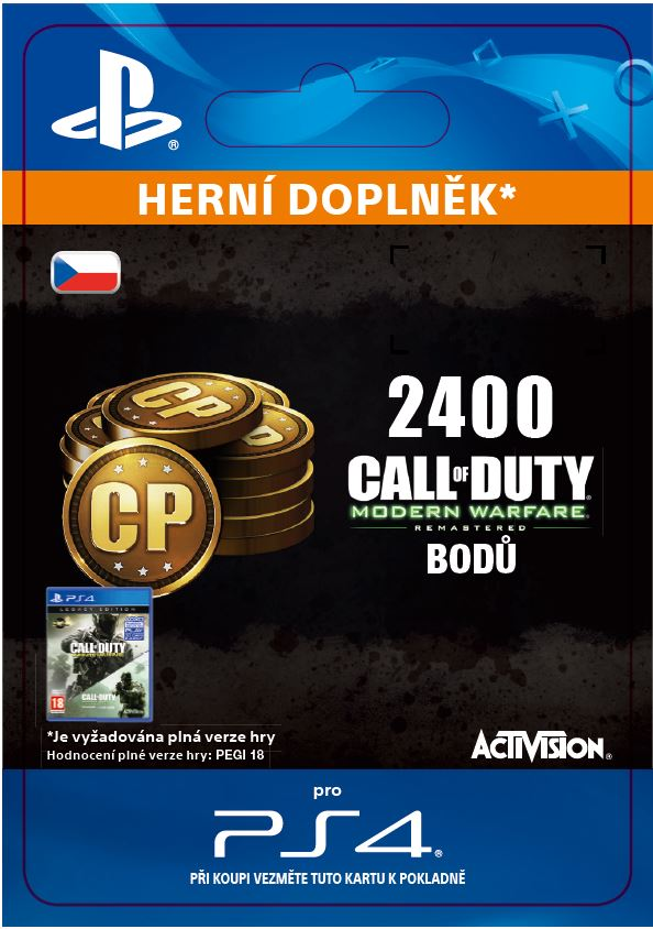 ESD CZ PS4 - 2,400 Call of Duty: Modern Warfare Remastered