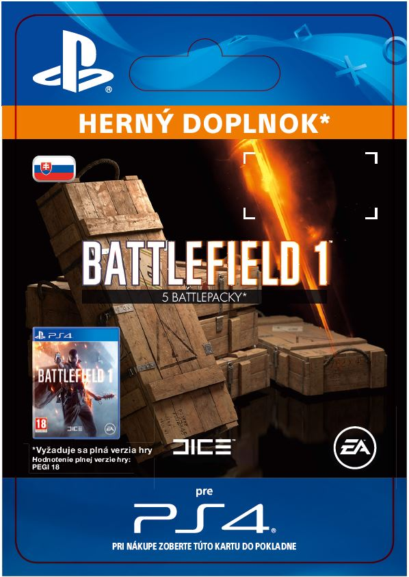 ESD SK PS4 - Battlefield 1 Battlepacks x 5