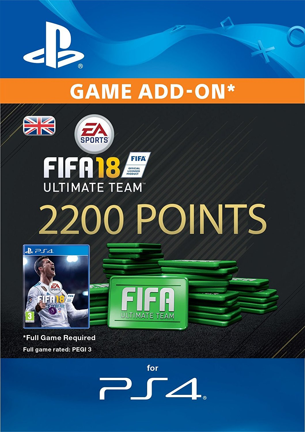 ESD CZ PS4 - 2200 FIFA 18 Points Pack