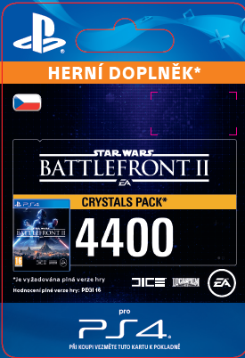 ESD CZ PS4 - STAR WARS™ Battlefront™ II: 4400 Crystals (Av. 14.11.2017)
