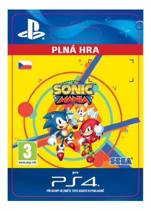 ESD CZ PS4 - Sonic Mania