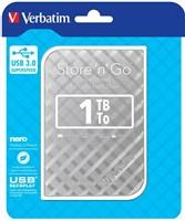 "VERBATIM HDD 2.5"" 1TB Store 'n' Go Portable Hard Drive USB 3.0, Silver GEN II"
