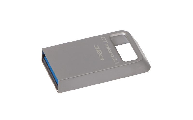 KINGSTON 32GB USB 3.0 DataTraveler Micro 3.1 Type-A metal ultra-compact drive