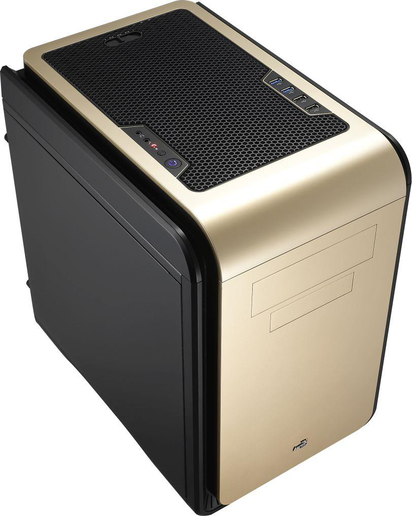 PC skříň Aerocool Micro ATX DS CUBE ORANGE, USB 3.0, bez zdroje