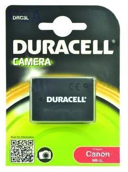 DURACELL Baterie - DRC3L pro Canon NB-3L, černá, 820 mAh, 3.7 V