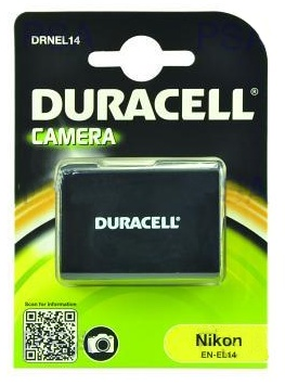 DURACELL Baterie - DRNEL14 pro Nikon EN-EL14, černá, 950 mAh, 7.4 V