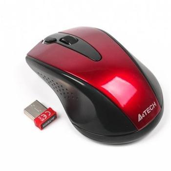 A4tech G9-500F-3 V-track, bezdrátová optická myš, 2.4GHz, 2000DPI, 15m dosah, USB, červená