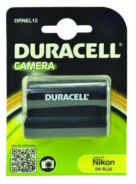 DURACELL Baterie - DRNEL15 pro Nikon EN-EL15, černá, 1400 mAh, 7.4 V