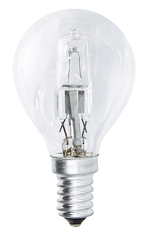 Emos Halogenová žárovka MINI GLOBE, 28W/37W E14, teplá bílá, 370 lm, Classic C