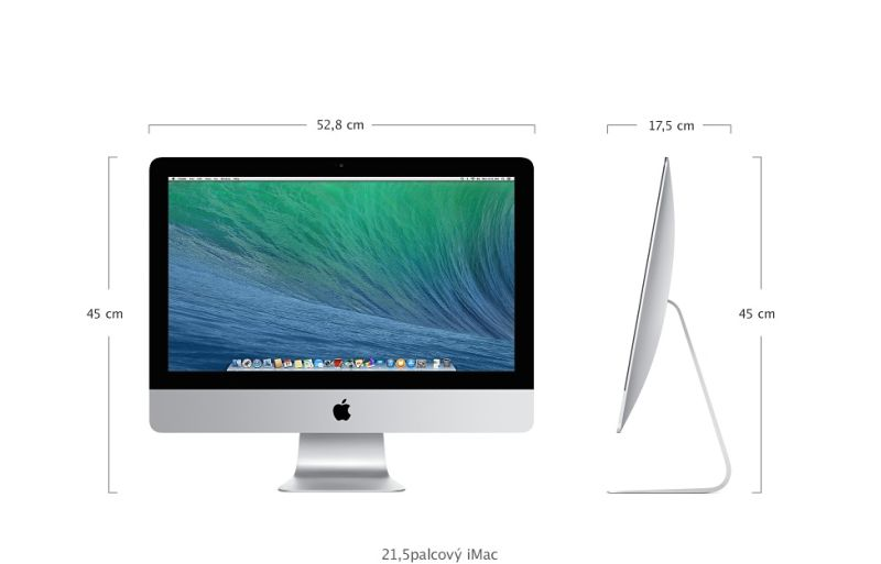 "Apple iMac 21.5"" 1920 x 1080 IPS/DC i5 1.4-2.7GHz/8GB/500GB_5.4k/HD5000/WLANa/GL/BT/CZ"