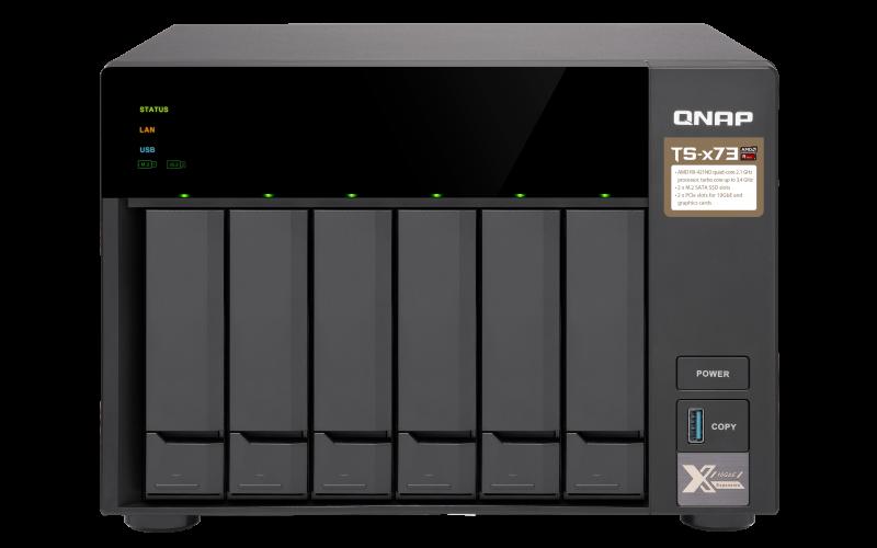 QNAP TS-673-8G (2,1Ghz/8GB RAM/6xSATA/2xPCIe)