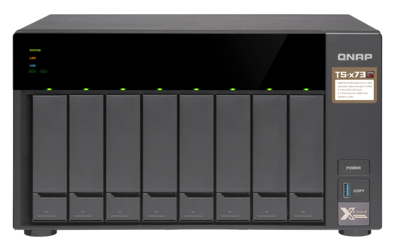 QNAP TS-873-8G (2,1Ghz/8GB RAM/8xSATA/2xPCIe)