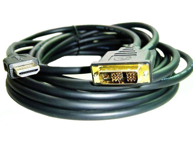 Gembird HDMI - DVI male-male kabel (zlacené konektory) 7.5m, 18+1ks