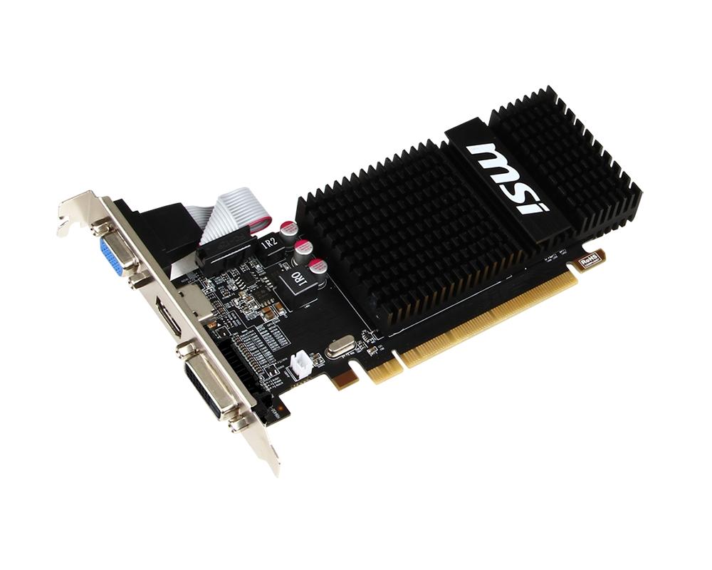 MSI R5 230 2GD3H LP, 2GB GDDR3, 64bit, DVI-D, D-SUB, HDMI