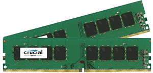 Crucial 2x4GB 2400MHz DDR4 CL17 Unbuffered DIMM