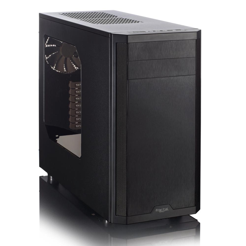 FRACTAL DESIGN skříň CORE 3500 Black, USB 3.0, průhledný bok, bez zdroje