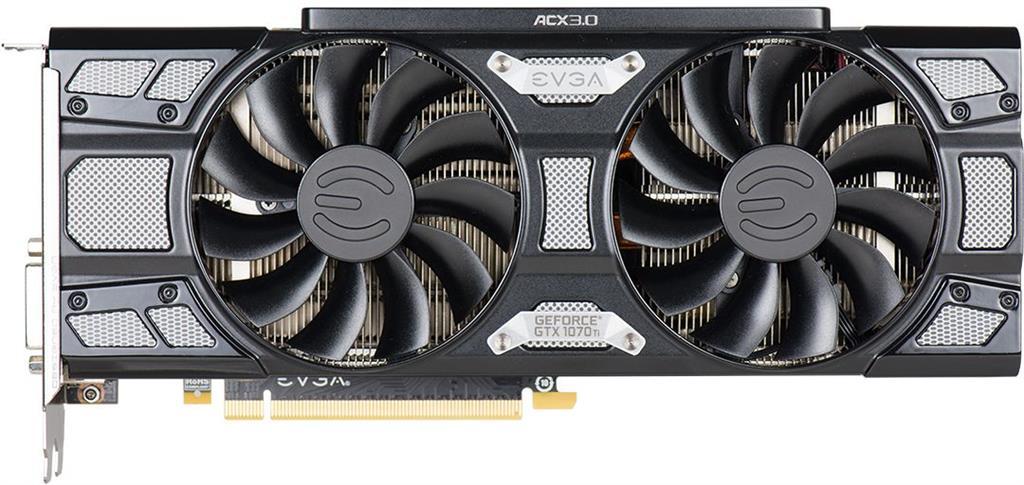 EVGA GeForce GTX 1070 Ti SC GAMING, 8GB GDDR5, ACX 3.0 & Black Edition+