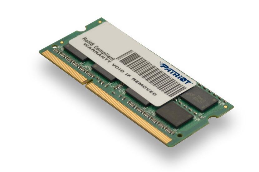 Patriot 4GB SO-DIMM DDR3-1333MHz 1,35V DR