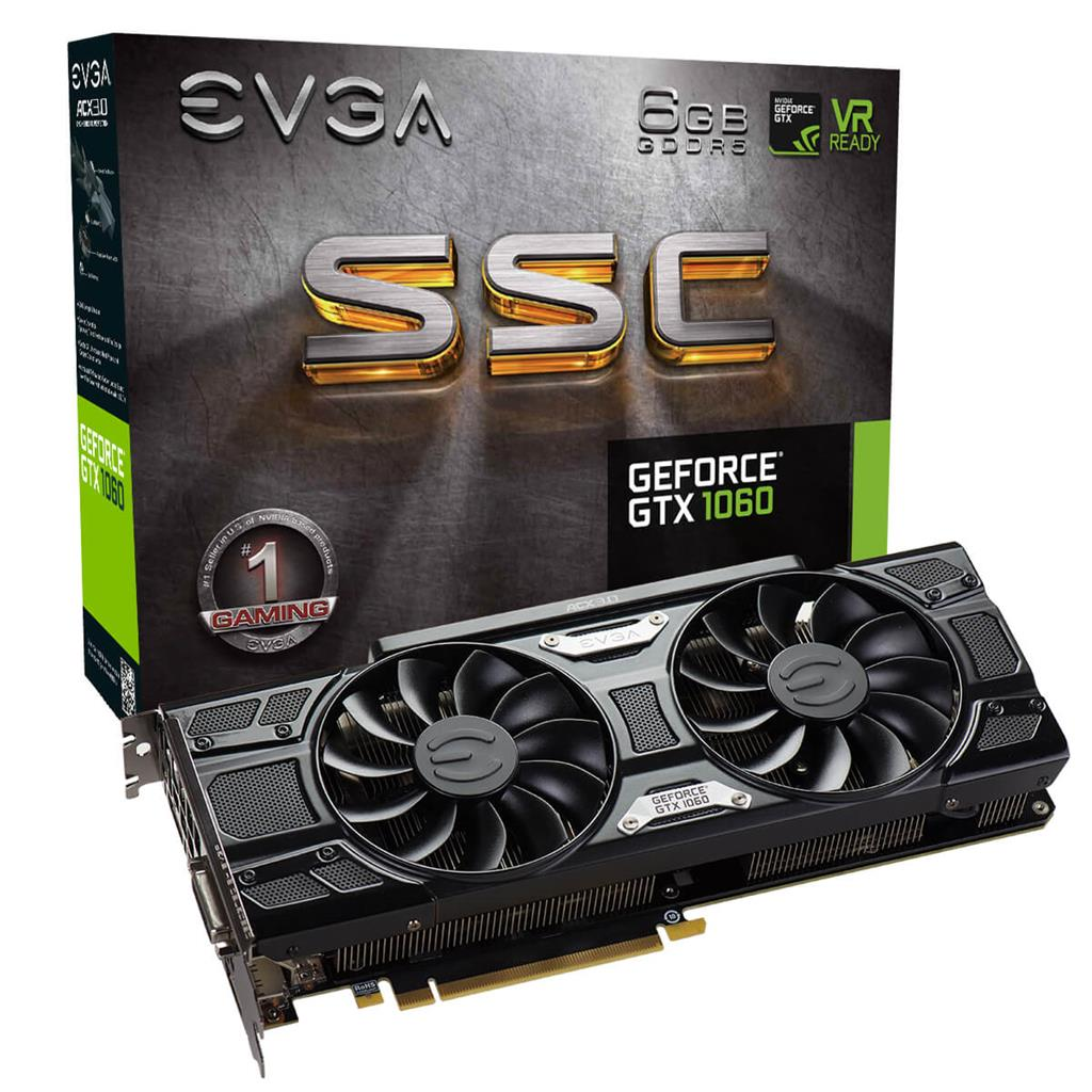 EVGA GeForce GTX 1060 SSC GAMING, 6GB GDDR5, ACX 3.0 & LED