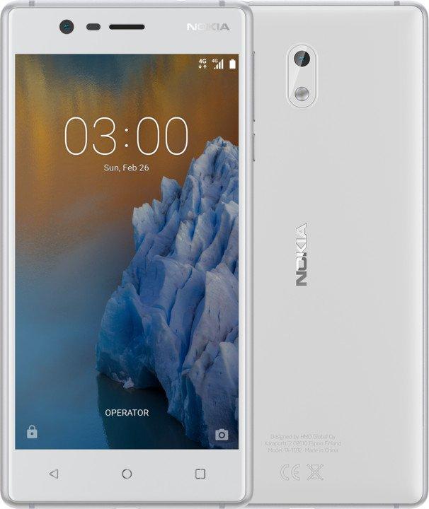 Nokia 3 Single SIM White Silver