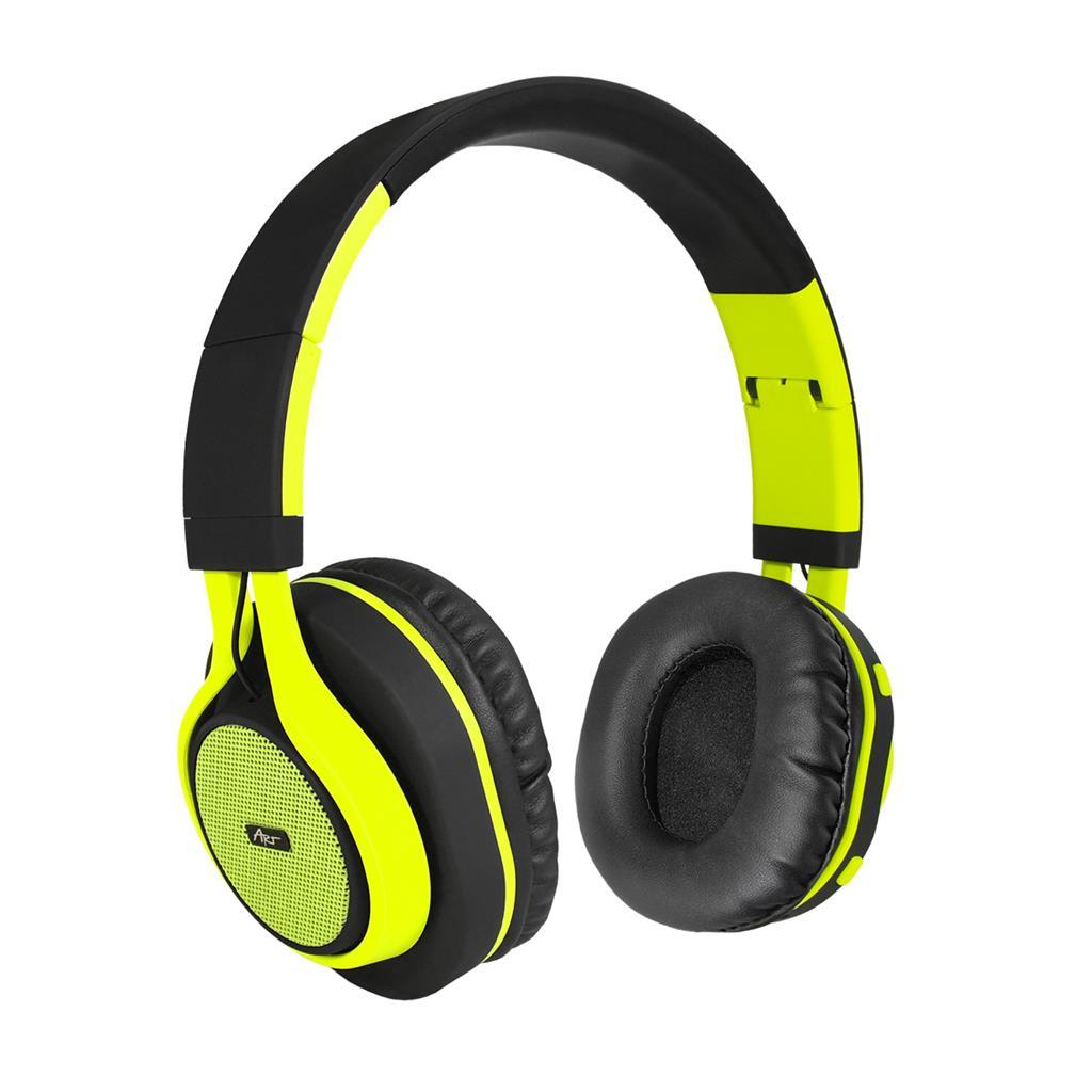 ART Bluetooth Headphones with microphone AP-B04 black/lime