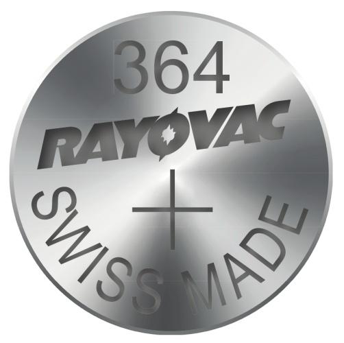 Knoflíková baterie do hodinek RAYOVAC 364, 10ks v