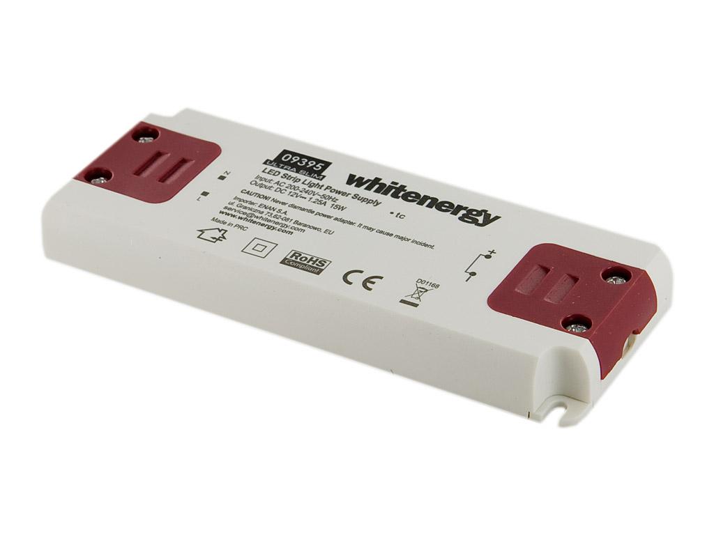 Whitenergy Napájecí zdroj pro LED Ultra Slim 230V|15W|12V