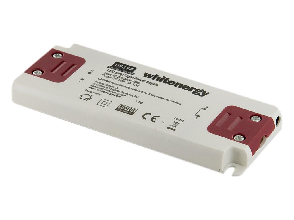 Whitenergy Napájecí zdroj pro LED Ultra Slim 230V|12W|12V