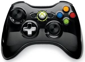 Xbox 360 Wireless Controller Chrome Black