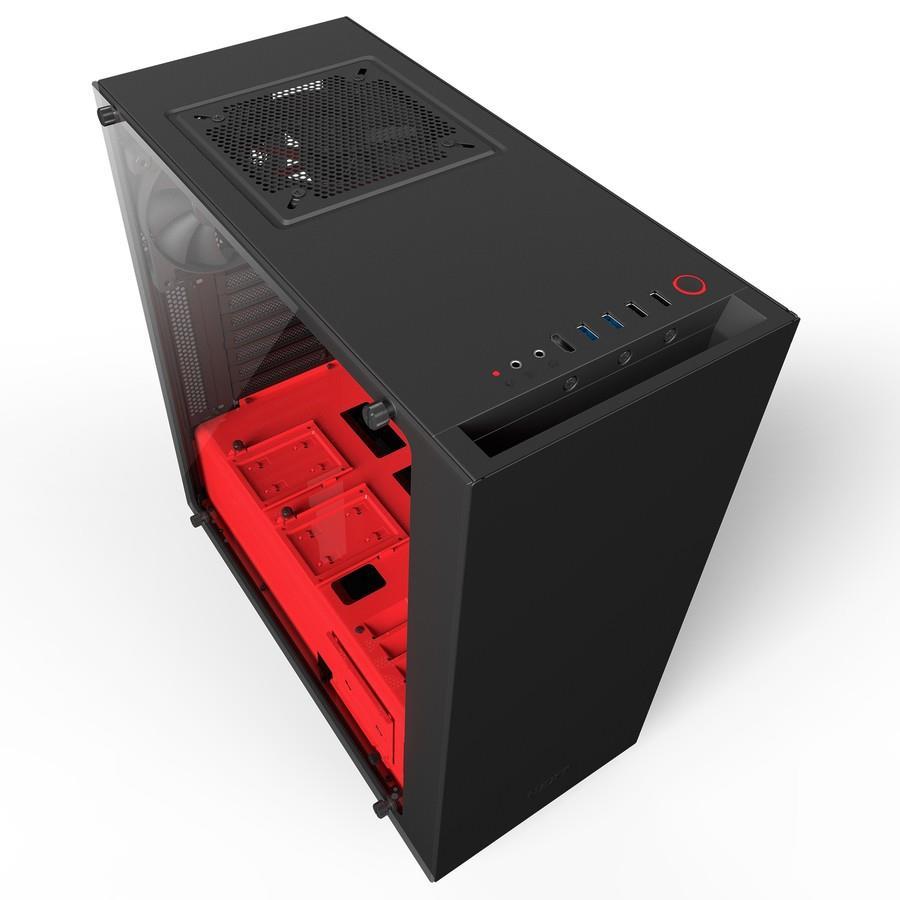 NZXT PC skříň S340 Elite matně černo-červená