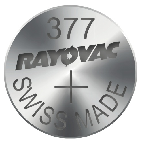 Knoflíková baterie do hodinek RAYOVAC 377, 10ks v