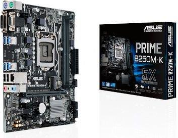 ASUS PRIME B250M-K, mATX, DDR4, USB3.0, M.2, DVI, VGA