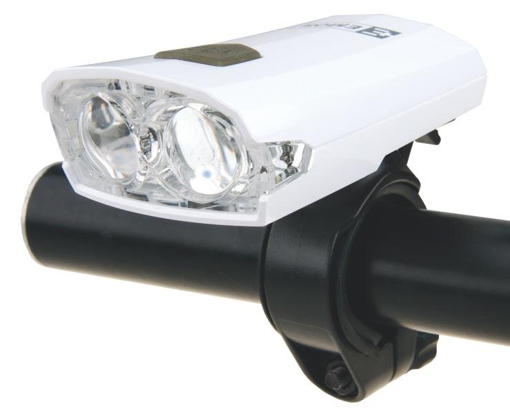 Emos LED cyklosvítilna E122, 2x LED 5mm, USB nabíjení, přední