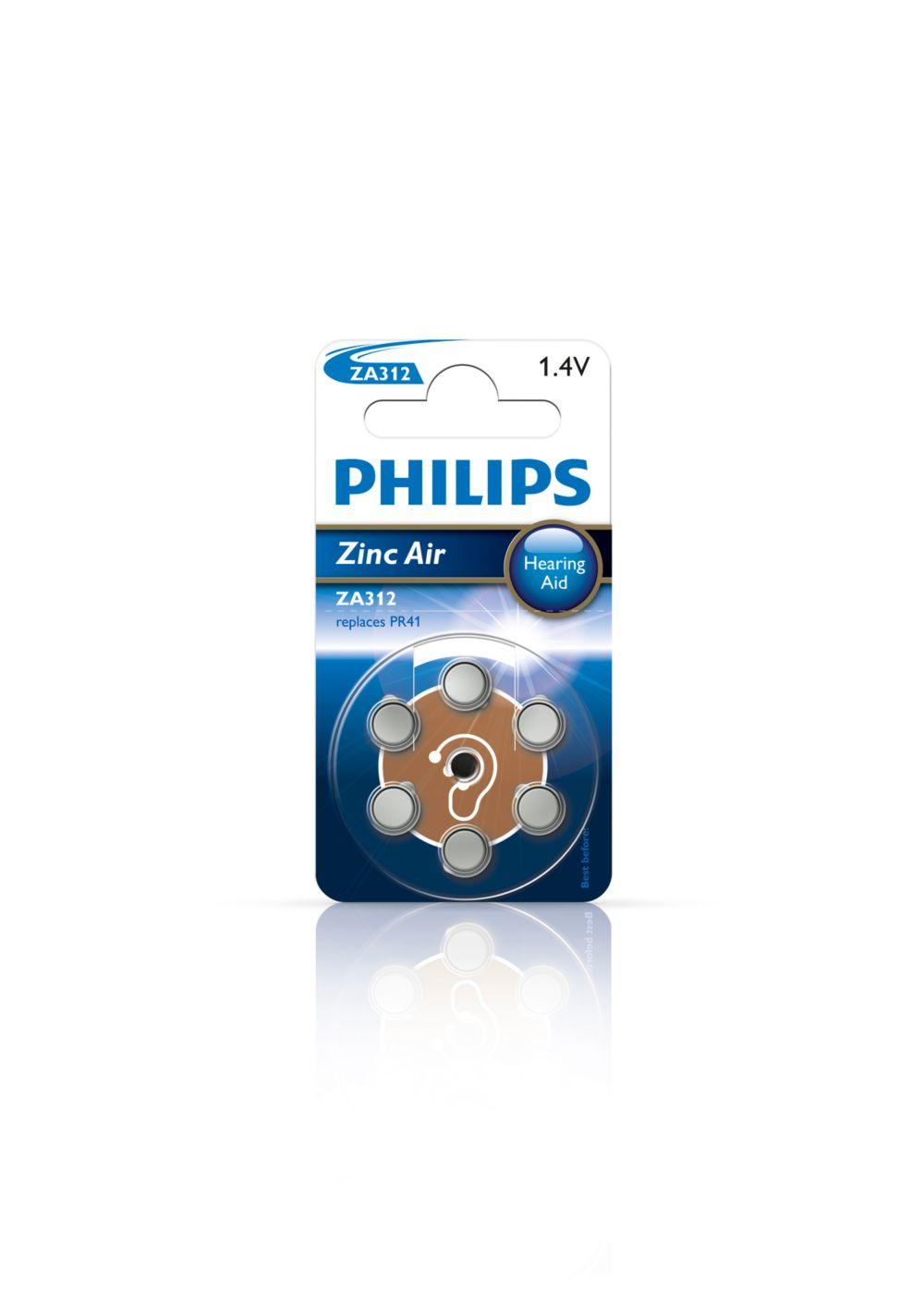 Philips baterie do naslouchadel ZA312B6A - 6 ks