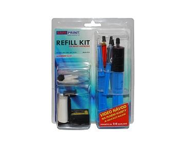SAFEPRINT Refill kit UNIVERZAL pro Canon PG-37,40,50 - 2x zásobník INK 20ml, 1x jehla, 1x prázdná stříkačka, stříkačka s