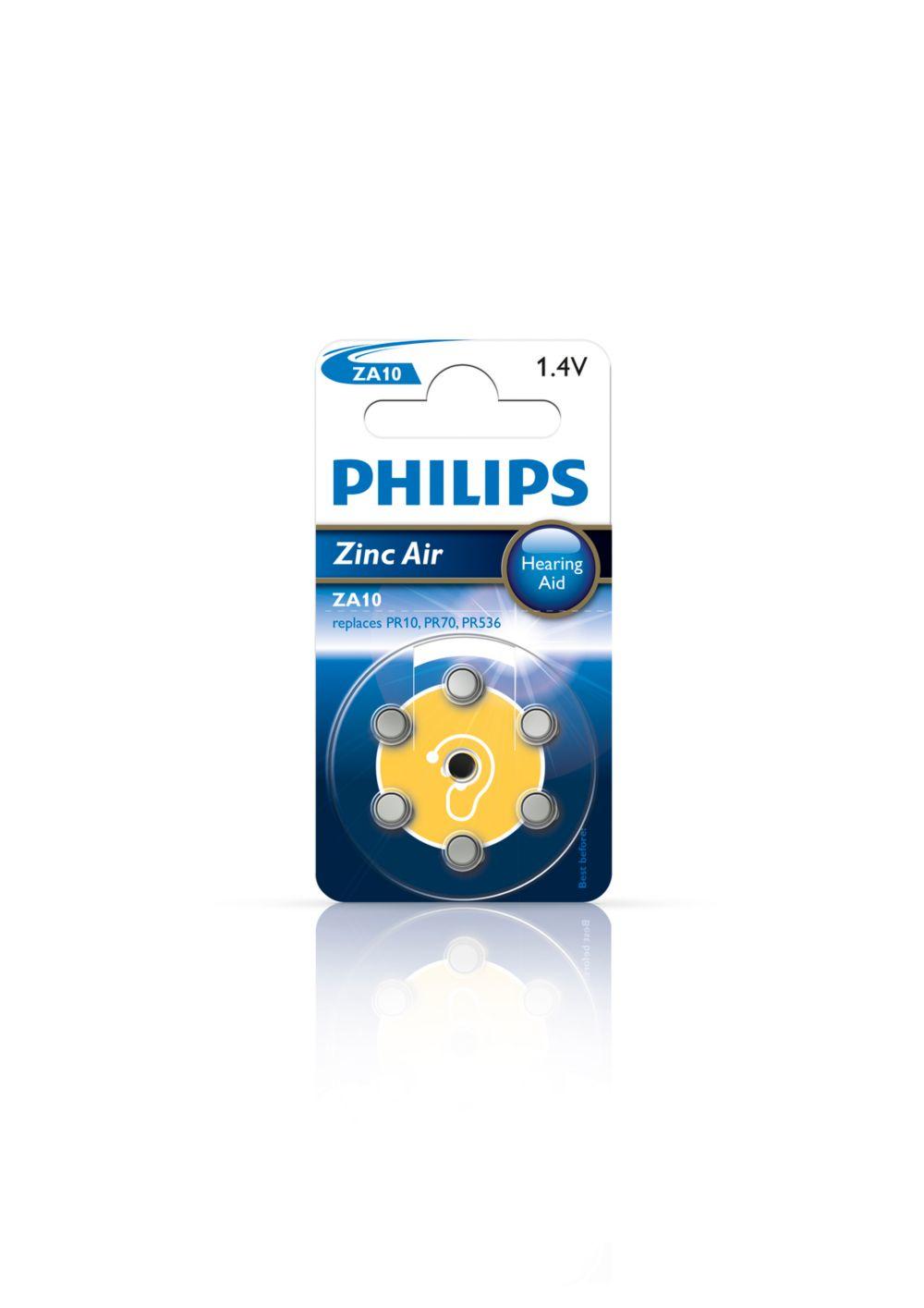 Philips baterie do naslouchadel ZA10B6A - 6 ks