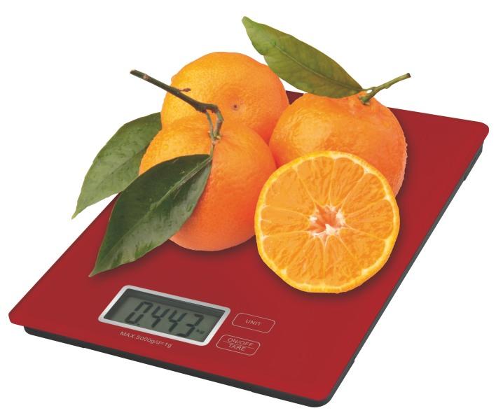 Emos kuchyňská digitální váha TY3101R, červená
