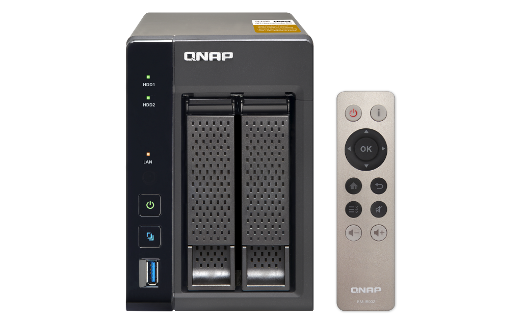QNAP SMB TS-253A-8G, 2-bay, Tower, Intel Celeron 1.6 GHz Quad Core, 8GB DDR3L, 2 x GbE