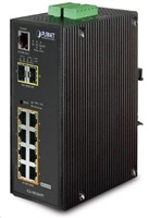Planet IGS-10020HPT PoE switch 8x 1000Base-T, 2x SFP, 802.3at 270W, IP30, -40 až 75°C, SNMP, IGMPv3, IPv6