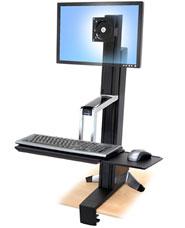 ERGOTRON WorkFit-S, Single LD Sit-Stand Workstation, nastavitelný stolní držák pro monitor, kláv.+myš.
