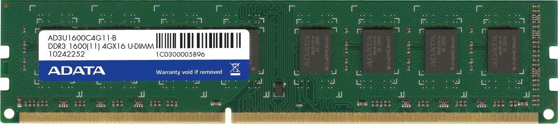 4GB DDR3 1600MHz ADATA CL11 single tray
