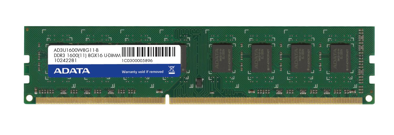 8GB DDR3 1600MHz CL11 ADATA retail