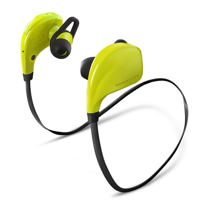 ENERGY Earphones BT Sport Green, sluchátka s mikrofonem Bluetooth V4.0 class II, EAR FIX